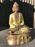 "Brass Meditation Buddha Statue 7"" - Routes Gallery"