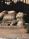 "Brass Reclining Paranirvana Buddha Statue 9.5"" - Routes Gallery"