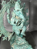 "Brass Dancing Ganesh Statue 7.5"" - Routes Gallery"