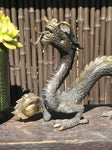 "Brass Dragon Statue 24"" - Routes Gallery"