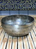 "Double Dorje Handmade Singing Bowl 7 1/4"" - Routes Gallery"