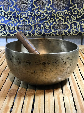 "Vintage Meditation Handmade Singing Bowl 9"" - Routes Gallery"