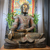 "Wood Mandalay Earth Witness Buddha 34"" - Routes Gallery"