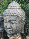 "Large Stone Garden Buddha Head 50"" - Routes Gallery"