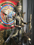 "Brass Saraswati Statue 46"" - Routes Gallery"
