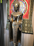 "Wood Standing Laos Style Buddha 70"" - Routes Gallery"