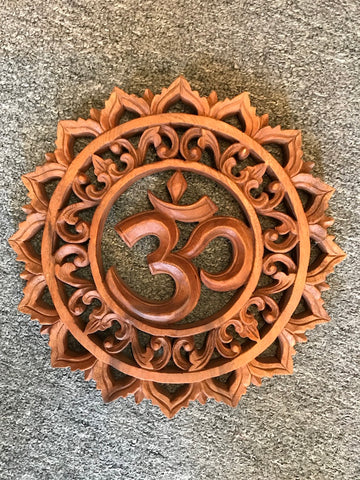 "Wood Om Lotus Wallhanging 12"" - Routes Gallery"