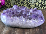 "Amethyst Quartz Crystal Cluster 8.5"" - Routes Gallery"