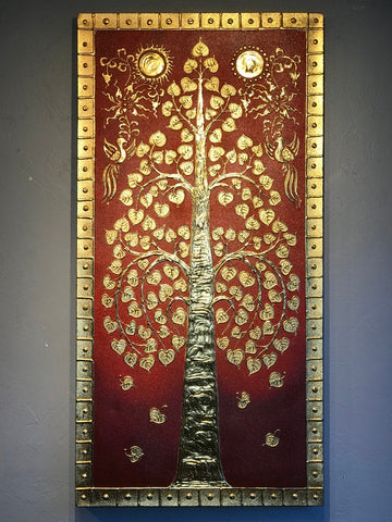 Bodhi Tree Lanna Thai Painting - Routes Gallery