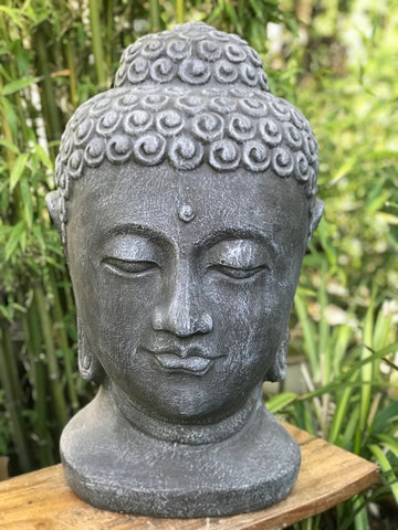 "Buddha Head Garden Statue 28"" - Routes Gallery"