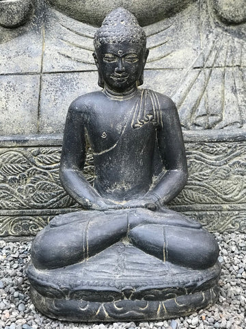 Seated Meditating Garden Buddha Statue 21""