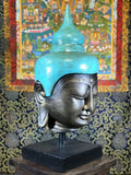 "Budha Head Statue on Stand 24"" - Routes Gallery"