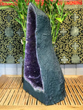 "Amethyst Quartz Crystal Cathedral Geode 21.5"" - Routes Gallery"