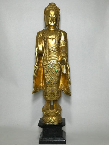 "Abhaya and Varada Mudra Buddha Statue 36"" - Routes Gallery"