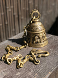 "Brass Ganesh Puja Bell 33"" - Routes Gallery"