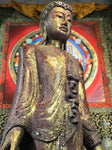 "Wood Standing Mandalay Buddha Statue 69"" - Routes Gallery"