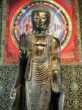 "Wood Standing Japanese Style Abhaya Buddha 57"" - Routes Gallery"