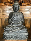 "Stone Meditating Buddha Statue 27"" - Routes Gallery"