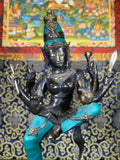 "Brass Dancing Devi with 6 Arms 23"" - Routes Gallery"