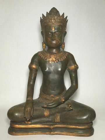 "Bronze Earth Witness Angkor Buddha 21"" - Routes Gallery"