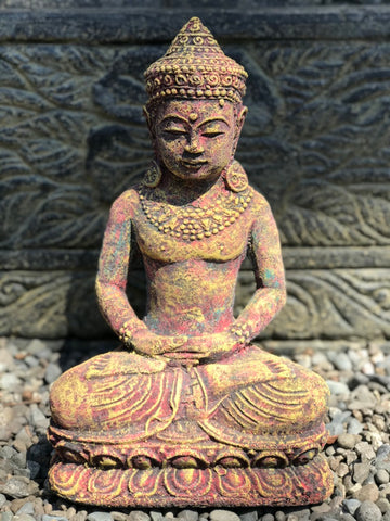 Meditating Royal Buddha Statue 12""