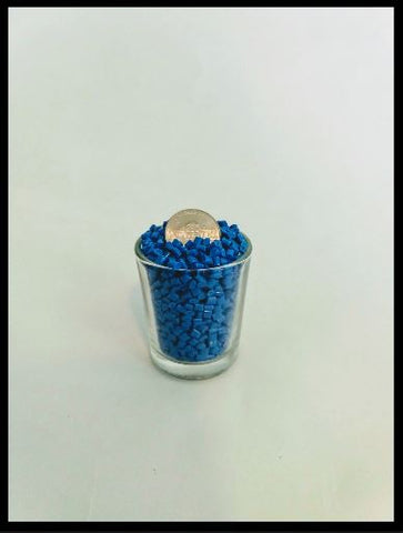 Blue Poly Pellets