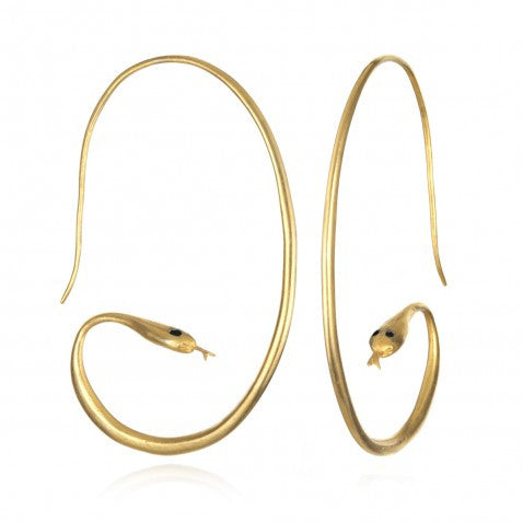 Gold Boa Earrings