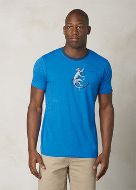 Silly Monkey Ringer Tee Shirt Classic Blue