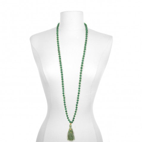 Green Onyx Reflections Mala