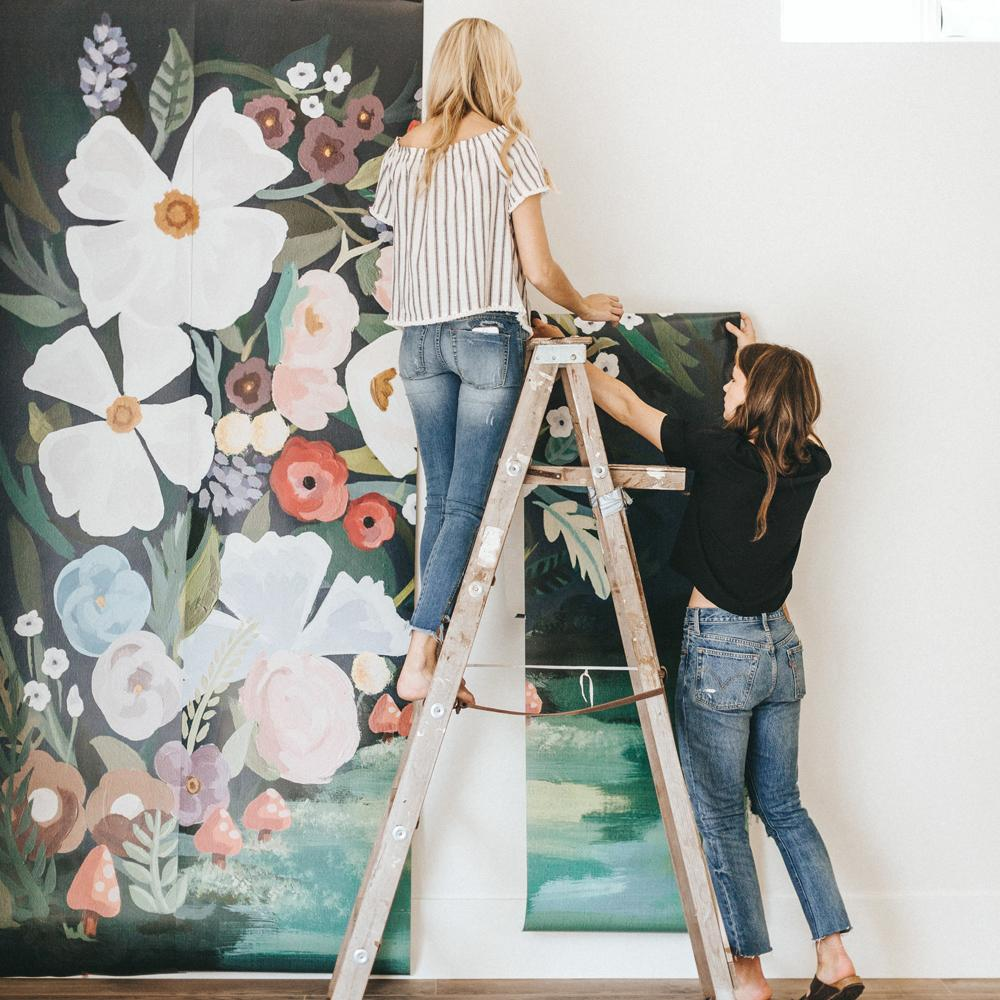 floral canopy mural