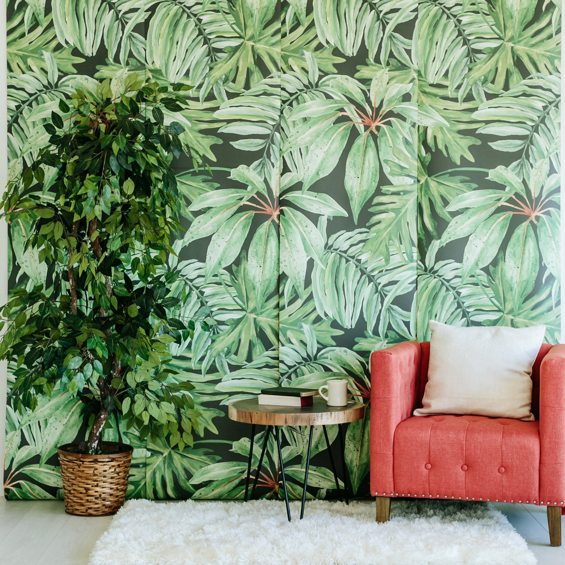 tropical Banana Leaf Wallpaper
