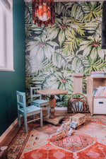 banana leaf wallpaper mural