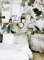 green and blush wall art