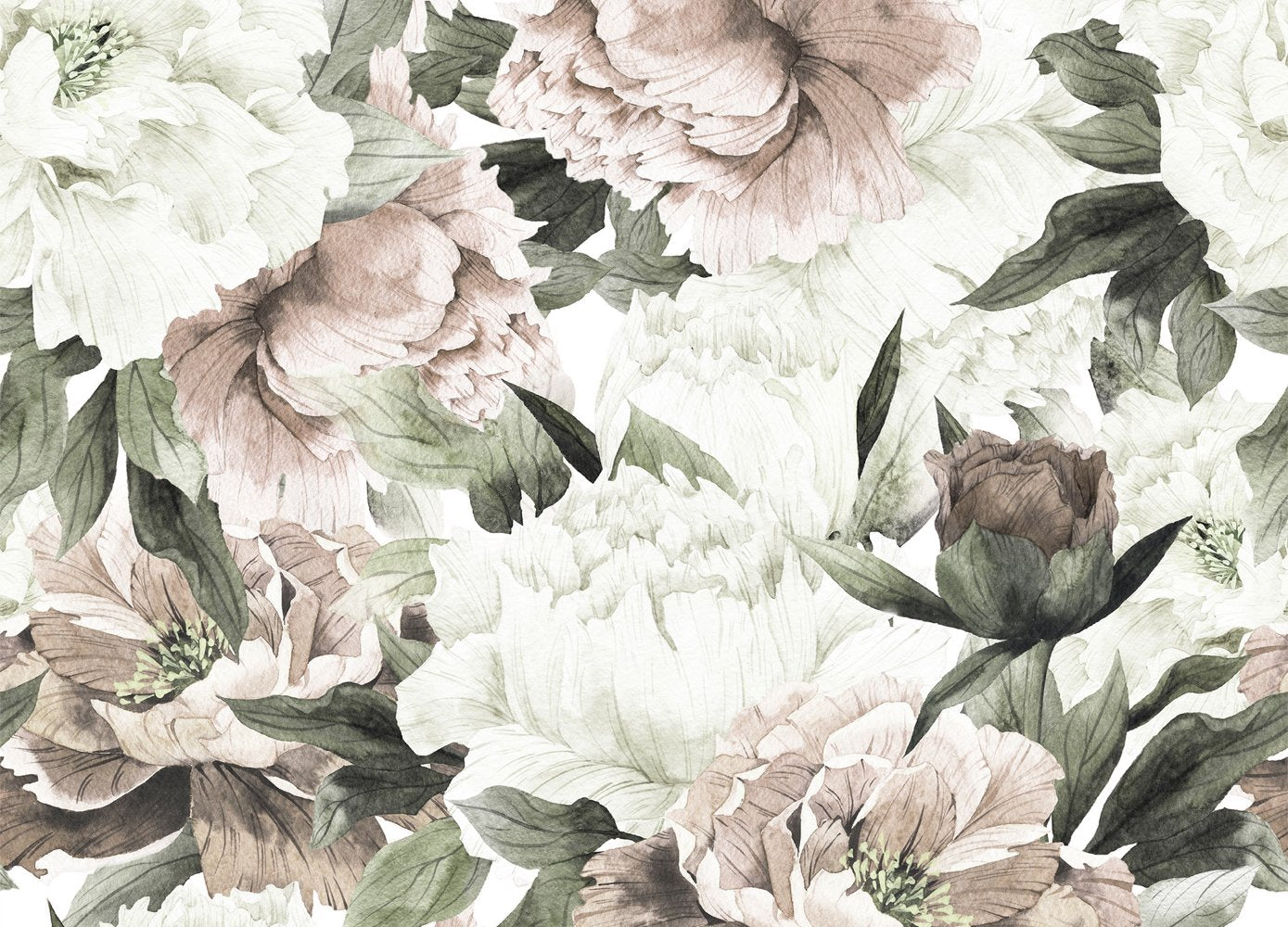 Blush Floral Wallpaper Anewall Mural Wallpapers