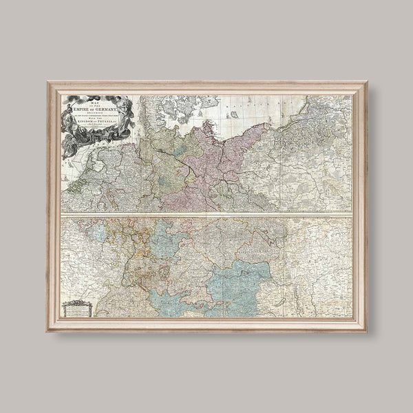 Antique German Map