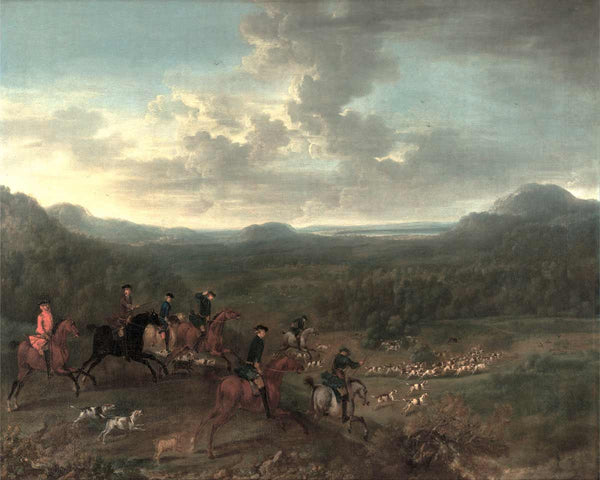 fox hunt painting