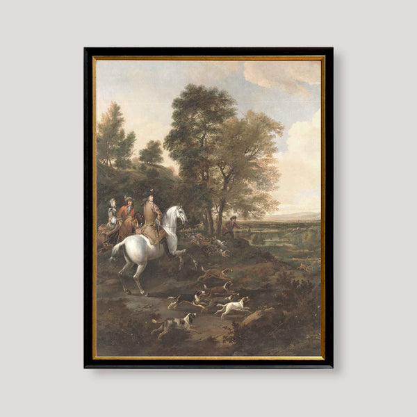 hunt with horses and dogs