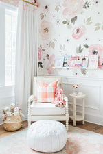 subtle pink floral wallpaper