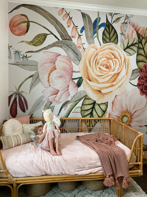 nursery flower wallpaper