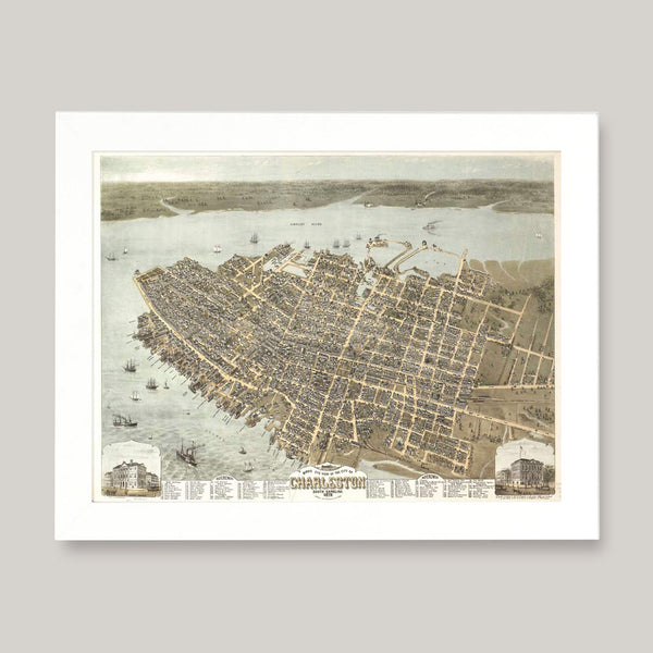 framed southern american maps