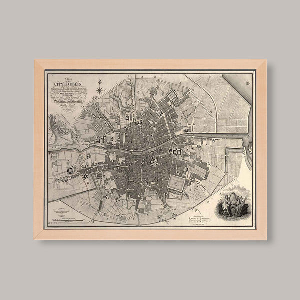 vintage map of dublin