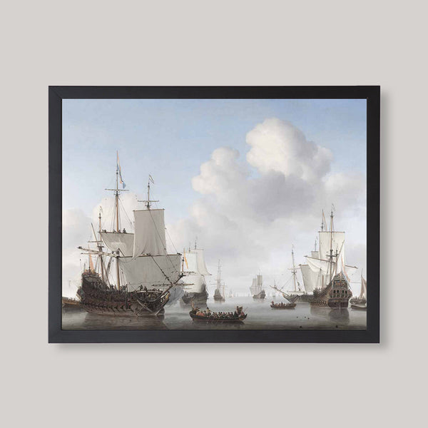ships with sails and cannons