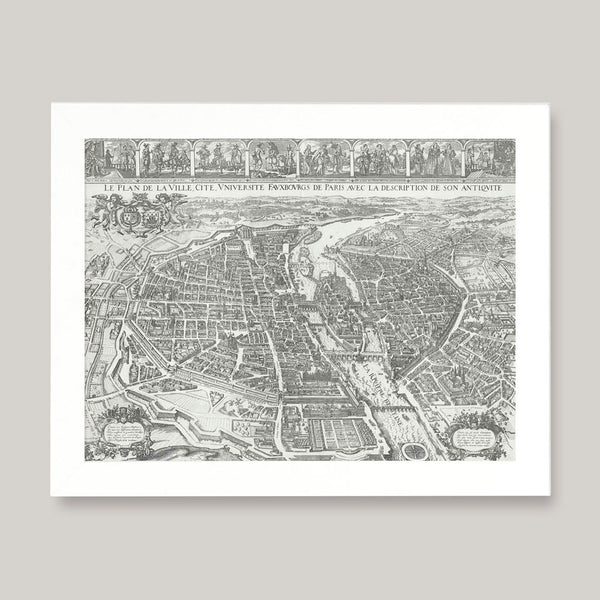 vintage parisian map