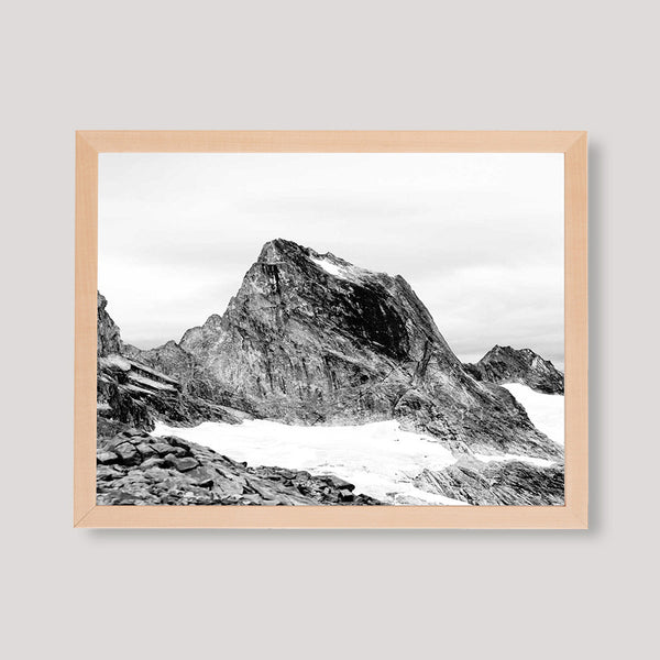 mountain black and white print