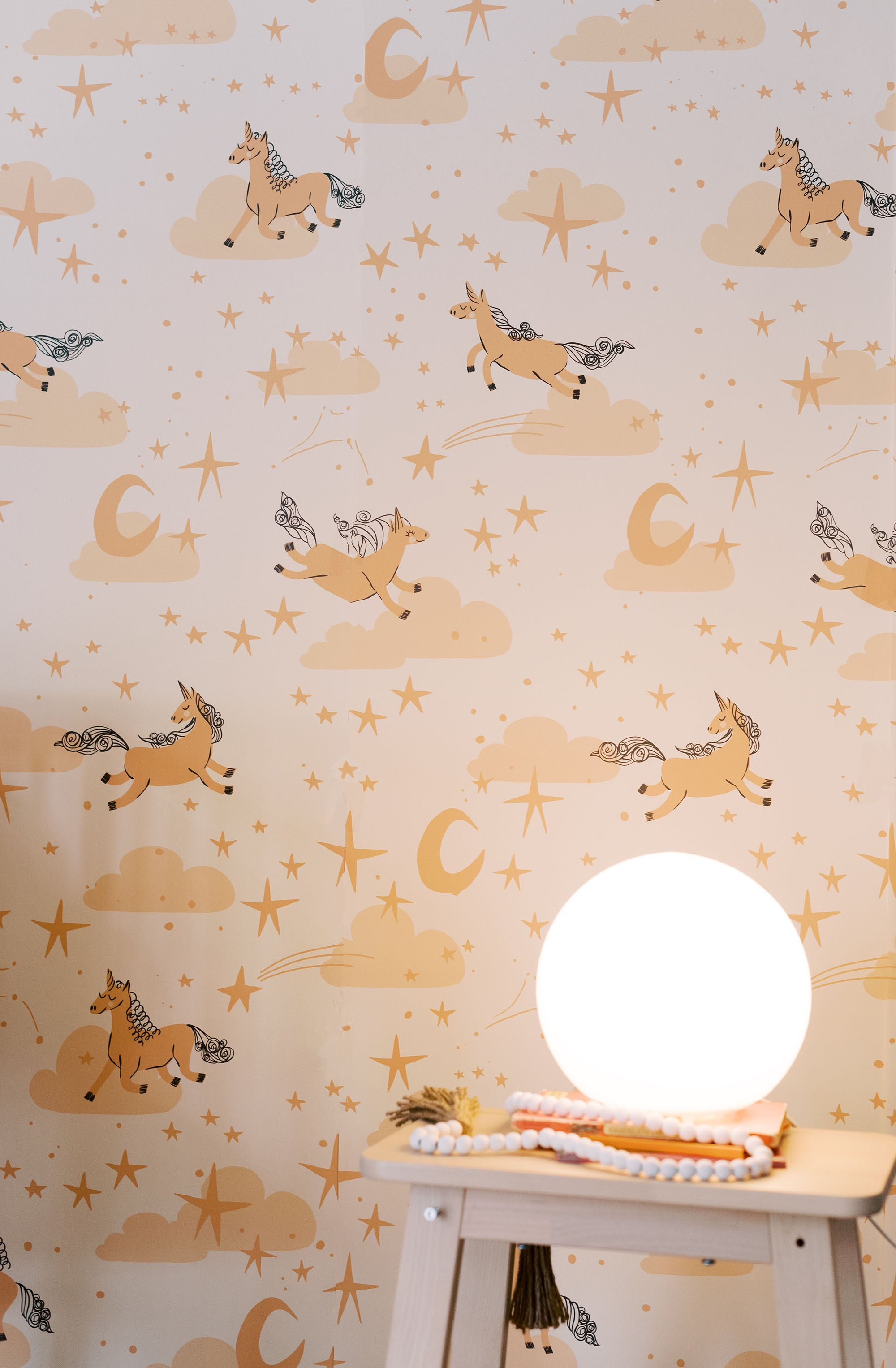 whimsical unicorn horse wallpaper
