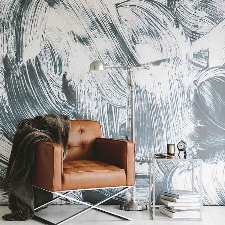 paint strokes mural