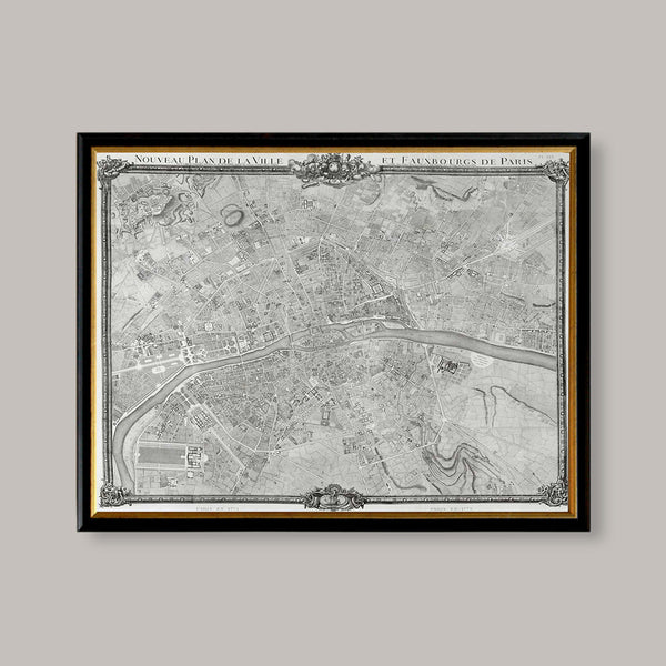 vintage map fauxbourg