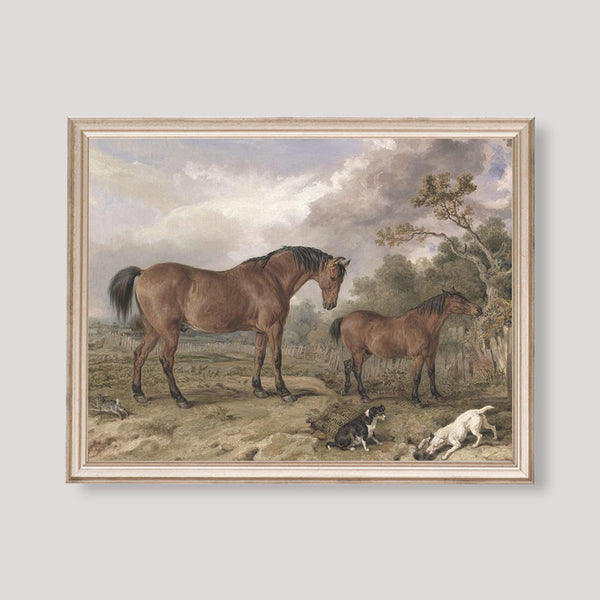 victorian landscape with horses