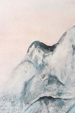 blue grey mountain range wall mural