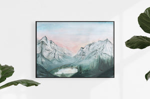 mountain forest art print